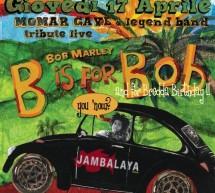 <!--:it-->TRIBUTE TO BOB MARLEY &#8211; JAMBALAYA JAZZ CLUB &#8211; MONSERRATO &#8211; GIOVEDI 17 APRILE 2014<!--:--><!--:en-->TRIBUTE TO BOB MARLEY &#8211; JAMBALAYA JAZZ CLUB &#8211; MONSERRATO -THURSDAY APRIL 17,2014<!--:-->