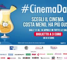 #CINEMADAYS 2016, TUTTI I FILM A 3 EURO -11-14 APRILE 2016