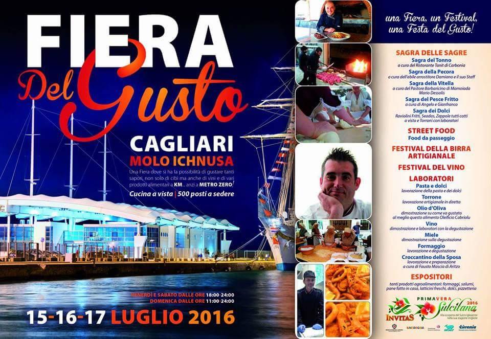 Fiera del gusto molo ichnusa cagliari 15 16 17 for Fiera elettronica calendario 2016