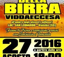 FESTA DELLA BIRRA VIDDAECCESA – VIDDALBA – SABATO 27 AGOSTO 2016