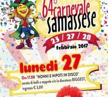 64° CARNEVALE SAMASSESE – SAMASSI- 23-27-28 FEBBRAIO 2017