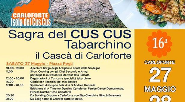 16° SAGRA DEL CUS CUS TABARCHINO – CARLOFORTE – 27-28 MAGGIO 2017