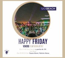 HAPPY FRIDAY – SAX BEACH – QUARTU SANT'ELENA – VENERDI 30 GIUGNO 2017