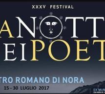 XXXV EDIZIONE FESTIVAL LA NOTTE DEI POETI – NORA – 15-30 LUGLIO 2017