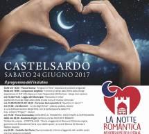 LA NOTTE ROMANTICA – CASTELSARDO – SABATO 24 GIUGNO 2017