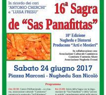16° SAGRA DE SAS PANAFITTAS – NUGHEDU SAN NICOLO' – SABATO 24 GIUGNO 2017