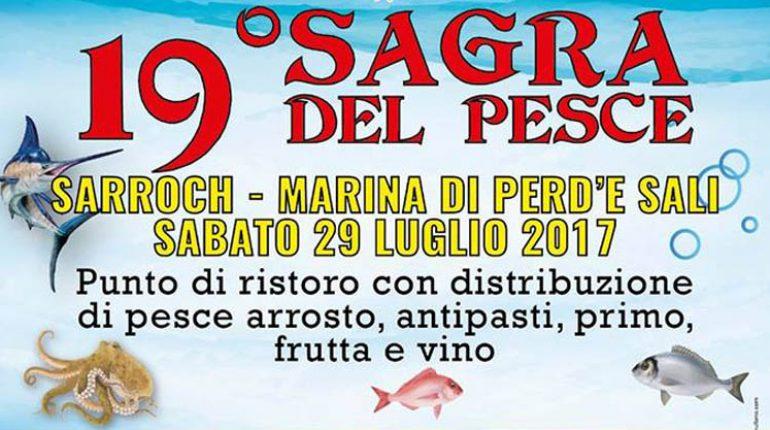19° SAGRA DEL PESCE - SARROCH - SABATO 29 LUGLIO 2017