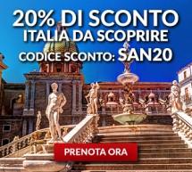 20% SCONTO PER VOLARE IN ITALIA CON ALITALIA – FINO A MARTEDI 1 AGOSTO 2017