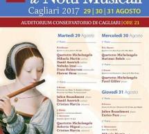 LE NOTTI MUSICALI – CAGLIARI – 29-30-31 AGOSTO 2017