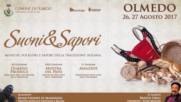SUONI & SAPORI – OLMEDO – 26-27 AGOSTO 2017