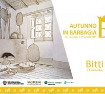AUTUNNO IN BARBAGIA 2017 – BITTI – 1-2-3 SETTEMBRE 2017