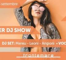 DINNER DJ SHOW – FRONTEMARE – QUARTU SANT'ELENA – SABATO 23 SETTEMBRE 2017