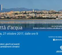 CLIMATHON 2017, CAGLIARI CITTA' D'ACQUA – TEATRO MASSIMO – VENERDI 27 OTTOBRE 2017
