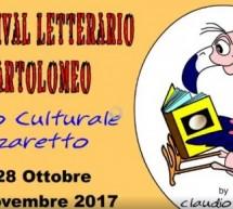 12° FESTIVAL LETTERARIO SAN BARTOLOMEO – LAZZARETTO – 28 OTTOBRE – 5 NOVEMBRE 2017