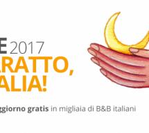 SETTIMANA DEL BARATTO 2017 – DORMI GRATIS NEI B&B D'ITALIA E ANCHE IN SARDEGNA