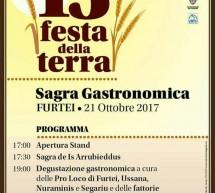 13° FESTA DELLA TERRA – FURTEI – SABATO 21 OTTOBRE 2017