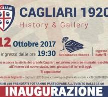 INAUGURAZIONE MUSEO DEL CAGLIARI CALCIO – CAGLIARI – GIOVEDI 12 OTTOBRE 2017