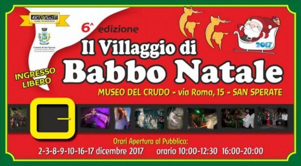 IL VILLAGGIO DI BABBO NATALE – SAN SPERATE – 2-3-8-9-10-16-17 DICEMBRE 2017