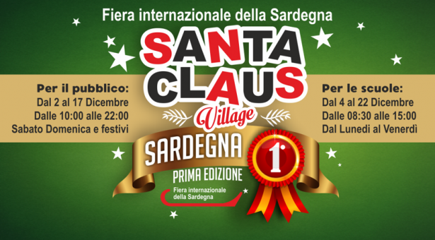 SANTA CLAUS VILLAGE – FIERA INTERNAZIONALE DELLA SARDEGNA – CAGLIARI -2-17 DICEMBRE 2017