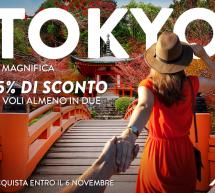 15% SCONTO PER VOLARE A TOKYO CON ALITALIA
