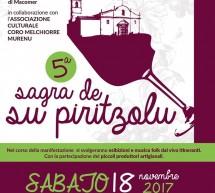 5° SAGRA DE SU PIRITZOLU – MACOMER -SABATO 18 NOVEMBRE 2017