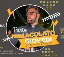 PARTY IMMACOLATO – GIOVEDI VANITOSO  -LINEA NOTTURNA – CAGLIARI – GIOVEDI 7 DICEMBRE 2017