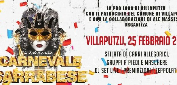 CARNEVALE SARRABESE – VILLAPUTZU – DOMENICA 25 FEBBRAIO 2018