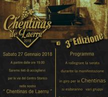 CHENTINAS DE LAERRU – LAERRU – SABATO 27 GENNAIO 2018
