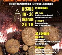 SA FESTA DE SANTU SOBOSTIANU D'ENNARGIU – DESULO- 19-20 GENNAIO 2018