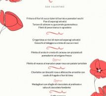 MENU DI SAN VALENTINO AL CAESAR'S HOTEL – CAGLIARI – MERCOLEDI 14 FEBBRAIO 2018