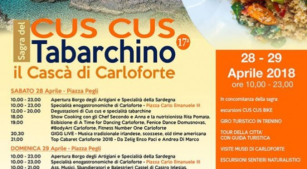 17° SAGRA DEL CUS CUS TABARCHINO -CARLOFORTE – 28-29 APRILE 2018