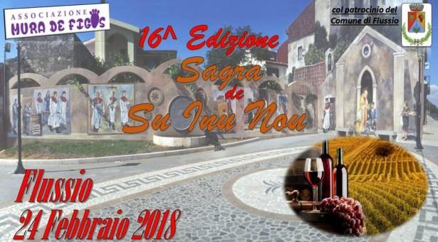 16° EDIZIONE SAGRA DE SU INU NOU – FLUSSIO – SABATO 24 FEBBRAIO 2018
