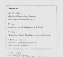 MENU DI SAN VALENTINO AL RISTORANTE LE SEGRETE – CAGLIARI – MERCOLEDI 14 FEBBRAIO 2018