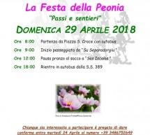 FESTA DELLA PEONIA – FONNI – DOMENICA 29 APRILE 2018