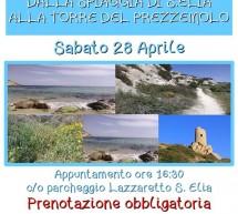 DALLA SPIAGGIA DI SANT'ELIA ALLA TORRE DEL PREZZEMOLO – CAGLIARI – SABATO 28 APRILE 2018