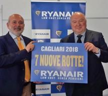 RYANAIR PRESENTA LE 7 NUOVE ROTTE DIRETTE DA CAGLIARI PER IL 2018