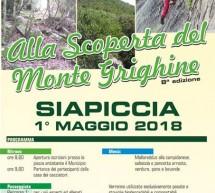 ALLA SCOPERTA DEL MONTE GRIGHINE – SIAPICCIA- MARTEDI 1 MAGGIO 2018