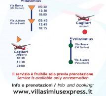 TORNA IL VILLASIMIUS EXPRESS PER L'AEROPORTO DI CAGLIARI ELMAS