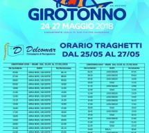 ORARIO TRAGHETTI DELCOMAR IN OCCASIONE DEL GIROTONNO 2018