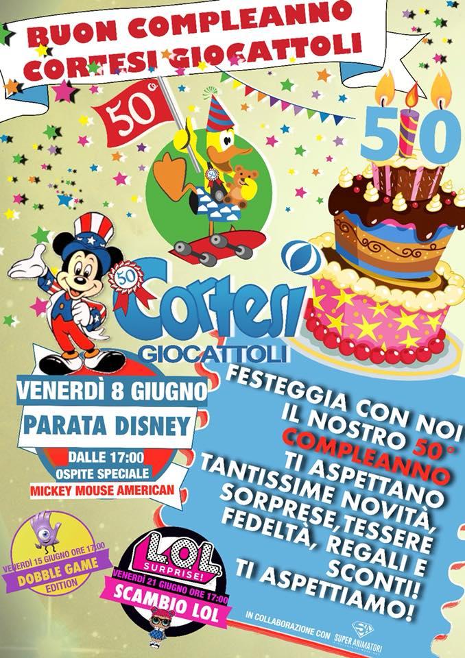 Buon 50 Compleanno Cortesi Giocattoli Cagliari Venerdi 8