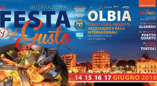 FESTA DEL GUSTO – OLBIA – 14-17 GIUGNO 2018