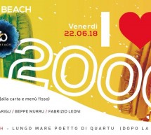 I LOVE 2000 – JINNY BEACH – QUARTU SANT'ELENA – VENERDI 22 GIUGNO 2018