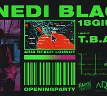 LUNEDI BLACK -ARIA BEACH LOUNGE- QUARTU SANT'ELENA – LUNEDI 18 GIUGNO 2018