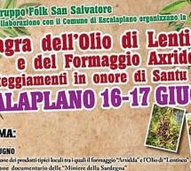 22° SAGRA DELL'OLIO DI LENTISCHIO E DEL FORMAGGIO AXRIDDA – ESCALAPLANO – 16-17 GIUGNO 2018