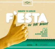 FIESTA ON THE BEACH- ARIA BEACH LOUNGE – QUARTU SANT'ELENA – SABATO 14 LUGLIO 2018
