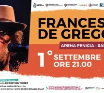 FRANCESCO DE GREGORI -ARENA FENICIA – SANT'ANTIOCO – SABATO 1 SETTEMBRE 2018