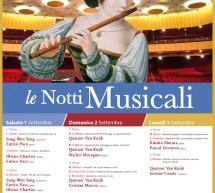 LE NOTTI MUSICALI – CAGLIARI – 1-2-3 SETTEMBRE 2018