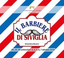 IL BARBIERE DI SIVIGLIA – TEATRO LIRICO  -CAGLIARI – 28 SETTEMBRE – 7 OTTOBRE 2018