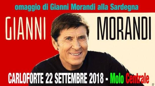 GIANNI MORANDI IN CONCERTO – CARLOFORTE – SABATO 22 SETTEMBRE 2018