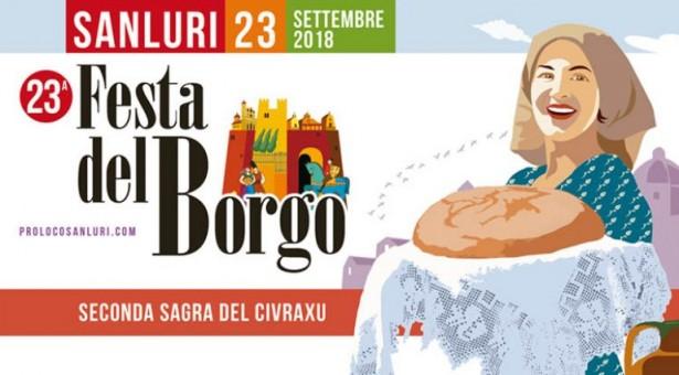 FESTA DEL BORGO – SANLURI – DOMENICA 23 SETTEMBRE 2018